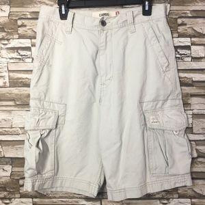 Mens Levi Khaki Cargo Shorts